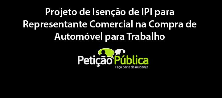 Projeto de Isenção de IPI – Veículo
